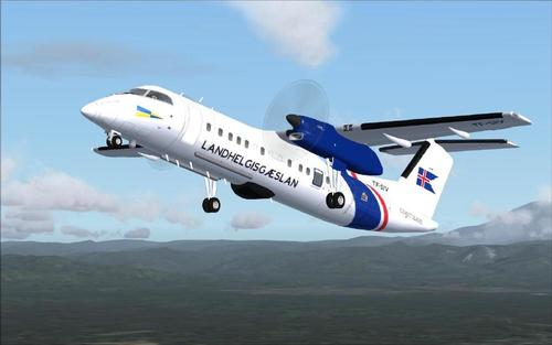 Dehavilland Bombardier Dash8-Q311 - islandês Coast Guard FS2004