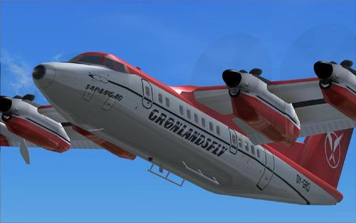 DeHavilland DHC 7 VC baserad Passagerar Edition FS2004