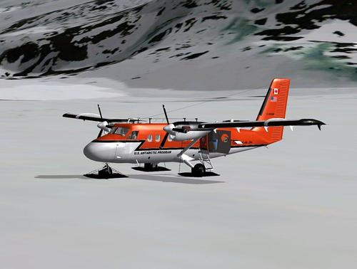 De Havilland DHC-6-300 ku-skis FSX