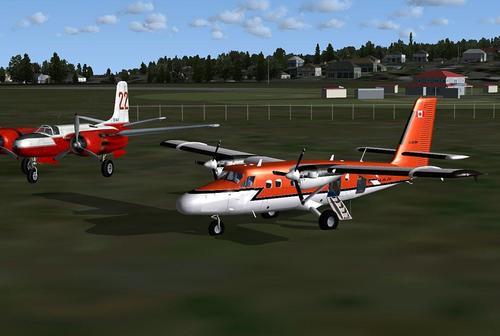 De Havilland DHC-6-300 on skis FSX