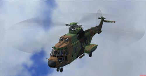 Eurocopter AS332 Franska Army FSX-ACC & FSX-Steam
