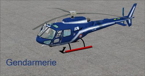 Eurocopter AS350-BA Fspainter Komplett FSX  &  P3D