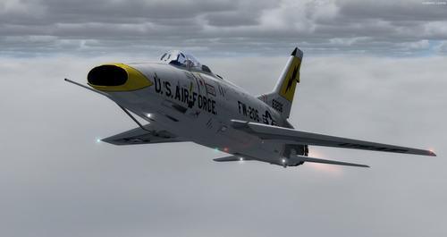 Північноамериканська F-100C Super Sabre CWDT FSX  &  P3D