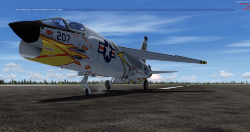 F-8 Vought Crusader FSX in P3D