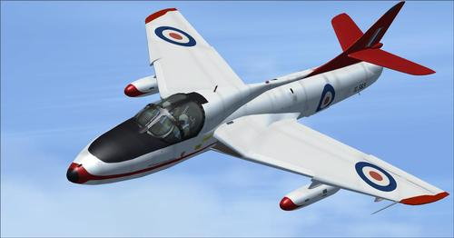 Hawker Hunter treneri FSX i P3D