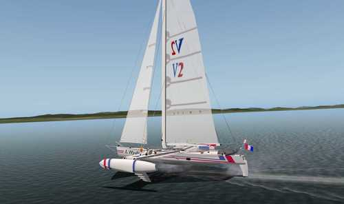 Hydroptere v2 The flying boat X-Plane 10