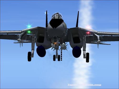 F-14D Tomcat + Scène Tahiti + porte-avions Glenn USS FS2004