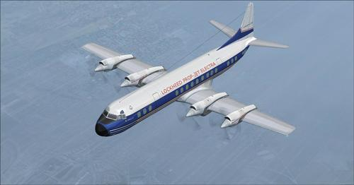 Lockheed L-188 Electra Passagéier & Cargo FSX