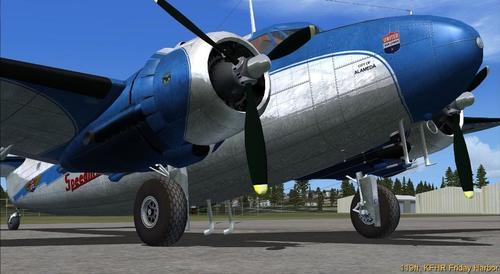 Lockheed Lodestar L-18 C-57 C-60A FSX  &  P3D