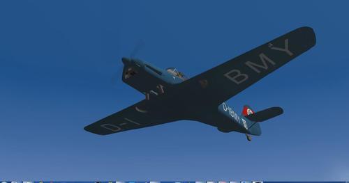 Messerschmitt Bf.108 Taifun X-Plane 9