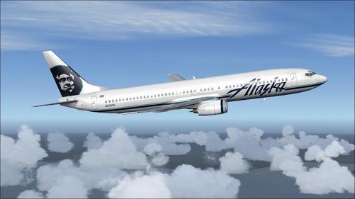 Паскі Boeing B737-900 Аляска авіякампаніі FSX