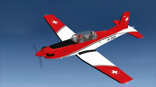 Pilatus PC-7SAF v.2 Swiss Airforce FSX