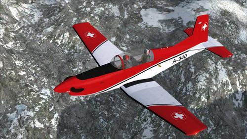 Pilatus PC-7SAF v.2 Swiss Airforce FSX