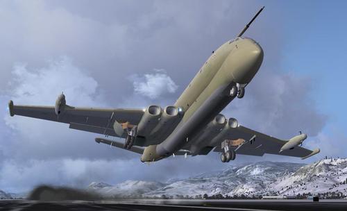 RAF BAE Nimrod pakket voor FSX