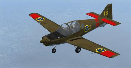 Scottish Aviation Bulldog T. MK1 Trenér FSX  &  P3D
