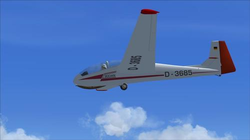 SZD Bocian هواپیمای بی موتور v6 FSX