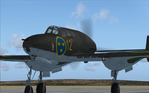 Saab J-21 Swedish avyon de gè FSX SP2