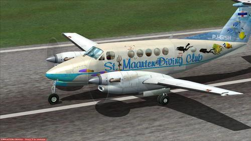 Beechcraft Super Mbreti Air 300 St. Maarten Diving Club FSX