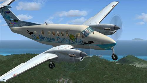 Beechcraft Super King Air 300 St. Maarten Diving Club FSX