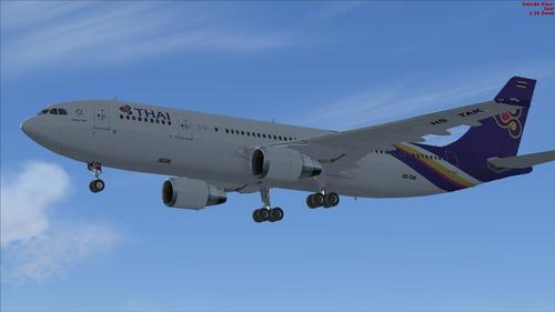 Airbus A300-600R Thai International FSX  &  P3D