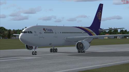 Tom Airbus A300-600R Thai International FSX