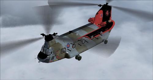 โบอิ้ง UKMIL Chinook HC2 FSX และ P3D