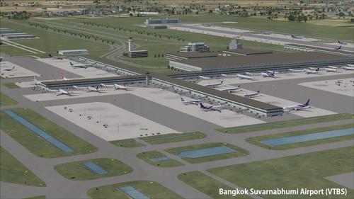 Bangkok VTBD & VTBS Bandara FSX & P3D
