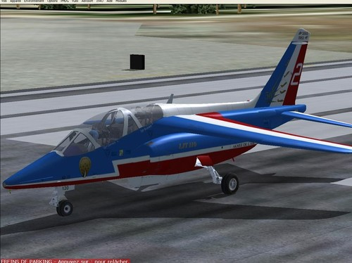 Alphajet French Patrouille for FS2004