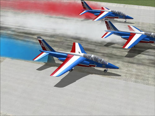 Alphajet French Patrouille for FS2004
