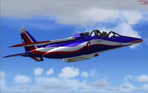 I-Alpha Jet-E Patrouille de France Flyboys FSX