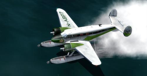 Beechcraft D18S водоземци FS2004