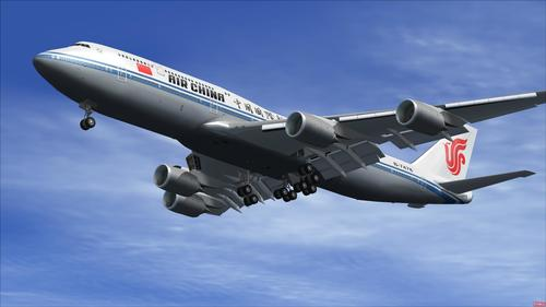 """Boeing 747-8i Air China"" paketas FSX  &  P3D"