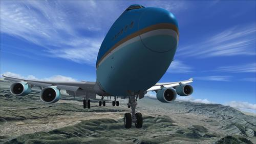 """Boeing 747-8i Air Force One"" paketas FSX  &  P3D"