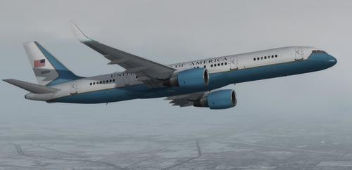 D'Boeing C-32 Loft Force Two USAF FSX  &  P3D