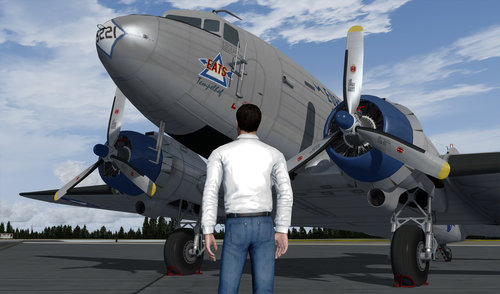 Douglas C-47R надземного FSX & P3D