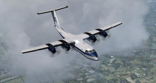 de Havilland Kanada DHC-7 12 Lifrarpakki FSX & P3D