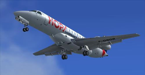 Embraer 135 HOP! Air France FSX & P3D için
