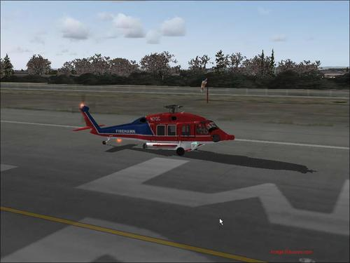 Sikorsky S-70 FireHawk နာရီ-60F FS2004