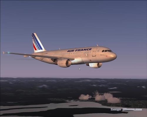 """Airbus A319-111"" Air France ""FS2004"