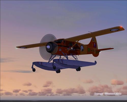 डी हैविलैंड DHC2 ऊदबिलाव अलास्का पर्यटन FS2004