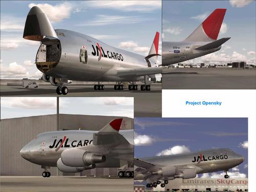 Боинг-747 400 JAL товар FS2004