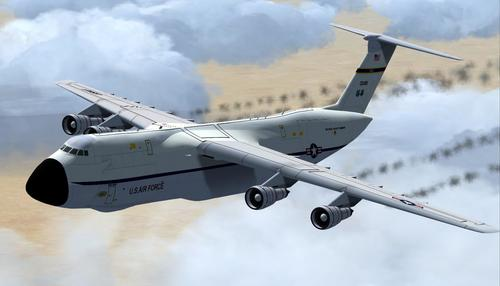 Lockheed ကို C-5 က Galaxy Alphasim FSX  &  P3D