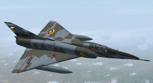 Dassault Mirage 5 et 5 Package ကို FS2004 ခေတ်မီ