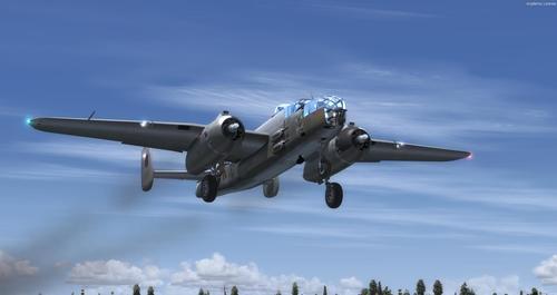 Norður-Ameríku B-25J RAF MkII FSX  &  P3D