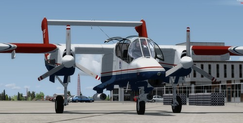 Північноамериканська компанія Rockwell OV-10D USMC & CAP FSX  &  P3D