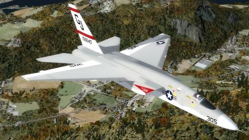 उत्तर अमेरिकी RA-5C सजग FSX और P3D