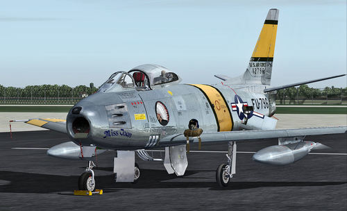 North American F-86 EF Sabre + SP1 FS2004