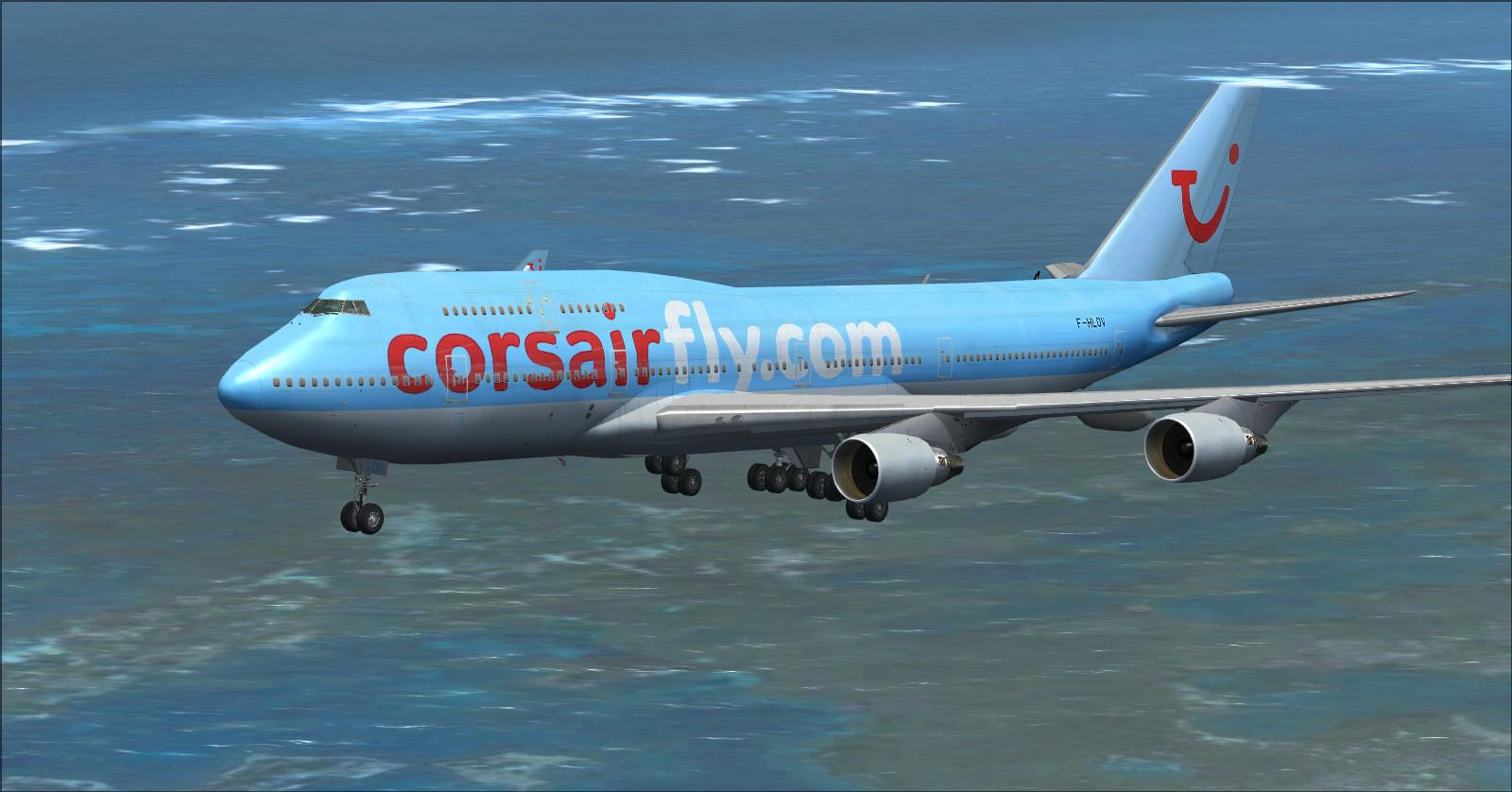 T l charger la flotte corsair international fsx p3d for Plan de cabine boeing 747 400 corsair